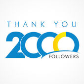 Thank you 2000 followers logo