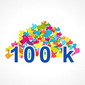 Card of 100000 likes