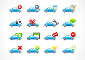 Set of interface vector icons for cars service business