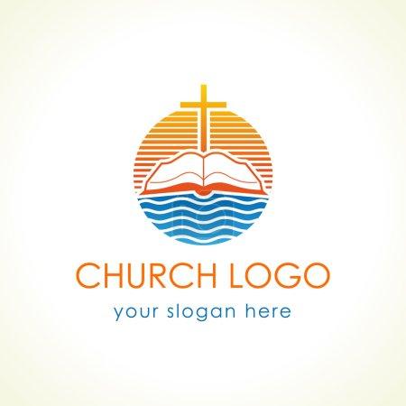 Cross on the bible church logo