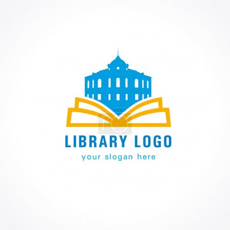 Library logo book