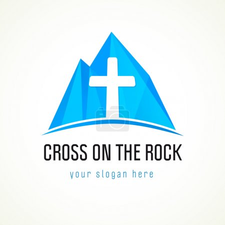 Cross on the rock logo