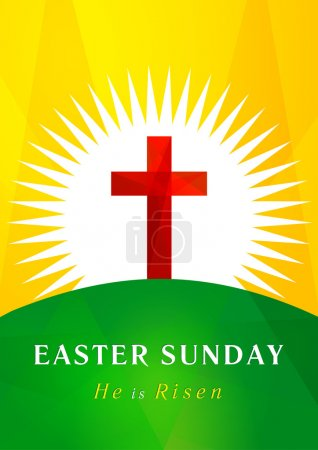 Easter Sunday calvary card