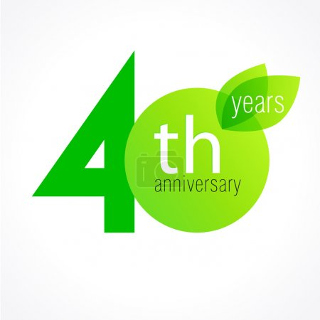 40 anniversary green logo