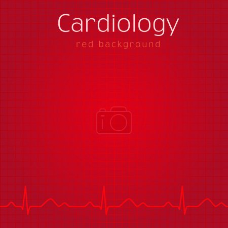 Cardiology red background