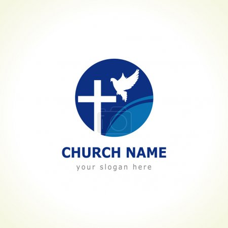 Dove cross church logo