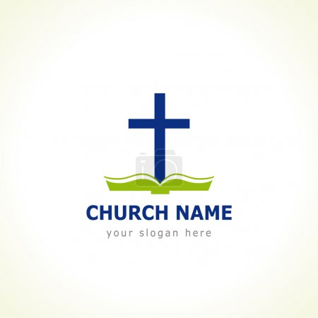 Bible cross church logo
