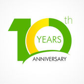 10 years old celebrating classic logo Colored happy anniversary 10 th template numbers Greetings celebrates Traditional framed digits of ages Special prize % off O or 0 Card's or label's idea