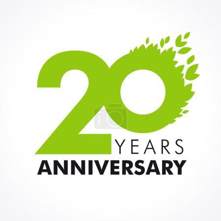 20 anniversary leaves logo