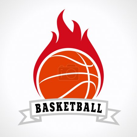 basketball fire logo