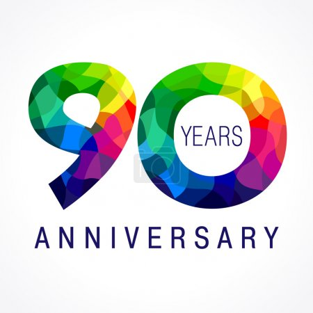 90 anniversary color logo