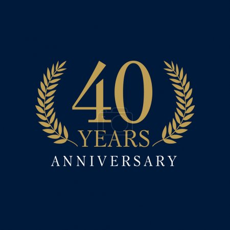 40 anniversary royal logo