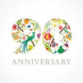 90 anniversary folk logo