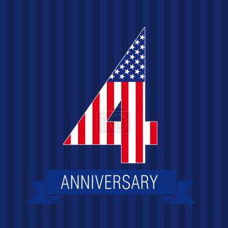 Anniversary 4 US flag logo.