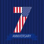 Anniversary 7 US flag logo