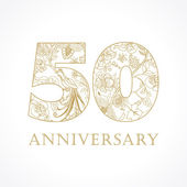 50 anniversary vintage numbers