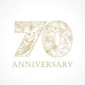 70 anniversary vintage numbers