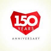 150 anniversary heart logo