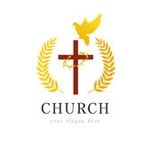 Dove cross thorns church logo