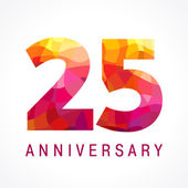 25 anniversary red colored logo