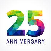 25 anniversary color logo