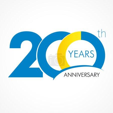 Anniversary 200 years old celebrating logo. Birthd...