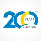 200 years anniversary logo