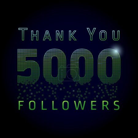 Thank you 5000 followers numbers.