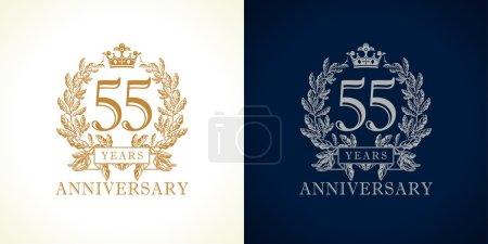 55 anniversary luxury logo