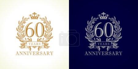 60 anniversary luxury logo