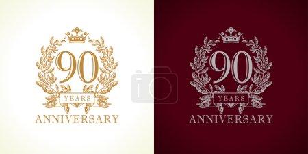 90 anniversary luxury logo