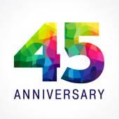 anniversary 45 colorfull logo