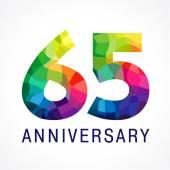 65 anniversary color logo
