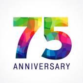 75 anniversary colored logo