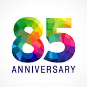 85 anniversary colored logo