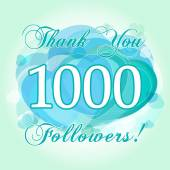 Thank you 1000 followers card