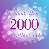 Thank you 2000 followers card