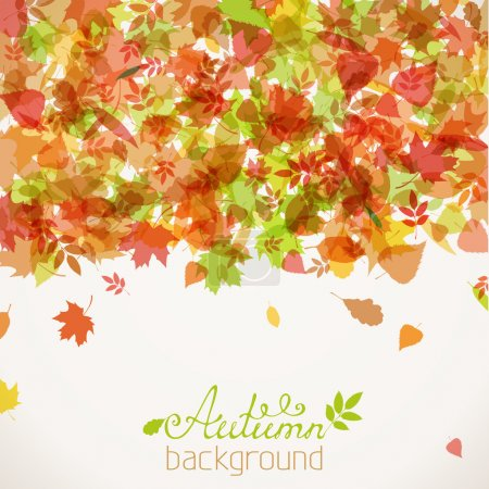 Colorful vector autumn background.