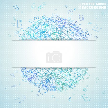 Blue vector square music background