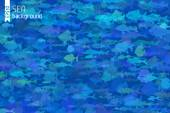 Blue fish background