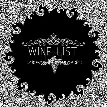 Wine list design.