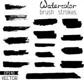 Hand-painted brush strokes