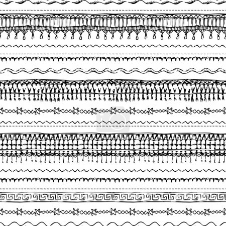 Seamless pattern of sewing stitches.