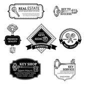 Set of vector keys logo templates