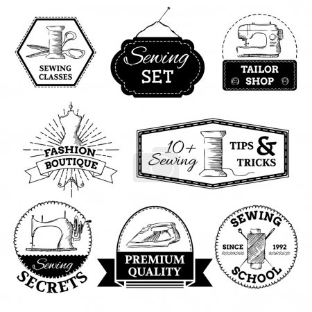 Vector sewing and fashion logo templates.