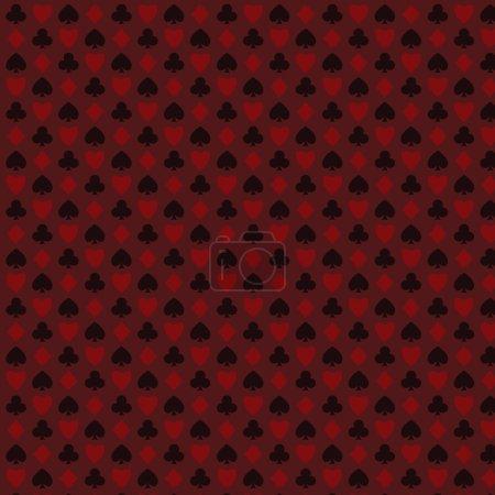 playing, poker, blackjack cards symbol seamless psttern red