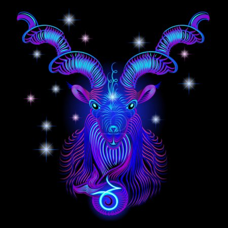 Neon signs of the Zodiac: Capricorn