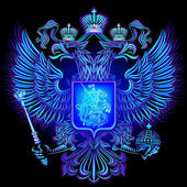 Neon emblem of the Russian Federation
