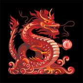 Vector objects talismans Feng Shui on a black background
