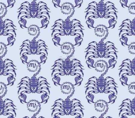 Repaint seamless pattern ranks scorpions